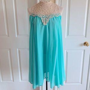 NWOT Lace High Neck Tent Dress